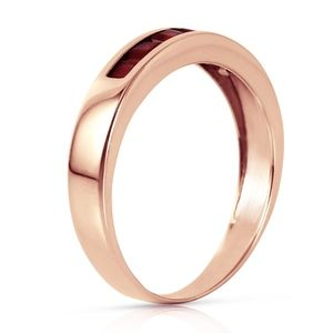 14K. SOLID GOLD RINGS WITH NATURAL RUBIES